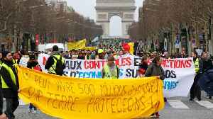 Thousands Of Yellow Vest Protesters Take To The Streets Of France For 17th Week [Video]