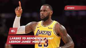 The Lakers Are Limiting Lebron [Video]