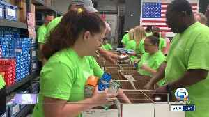 Forgotten Soldiers Outreach volunteers assemble packages for soldiers and their families [Video]