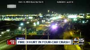 Three hurt in four-car crash in Tempe [Video]