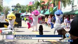 Childrens' event 'Rainbowpalooza' held in West Palm Beach [Video]