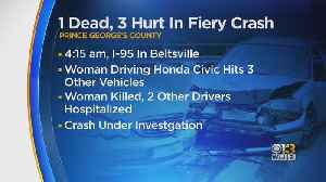 One Dead In Multi-Vehicle Crash In Prince George's County [Video]