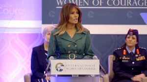Melania Trump At Women Of Courage Awards [Video]