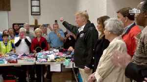 President Trump At Tornado Disaster Relief Center [Video]
