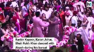 Ranbir Kapoor Shah Rukh Khan Karan Johar dance at Akash Ambanis wedding [Video]