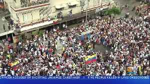 Rally Held For Opposition Leader Juan Guaidó As Much Of Venezuela Remains In Darkness [Video]