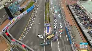 Mortara wins dramatic Formula E race after Bird penalised for collision [Video]