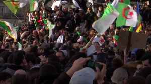Thousands of Algerians protesting in Paris reject new term for Bouteflika [Video]