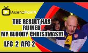 The Result Has Ruined My Bloody Christmas!!! - Liverpool 2 Arsenal 2 [Video]