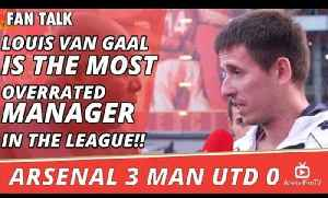Louis Van Gaal Is The Most Overrated Manager In The League!! | Arsenal 3 Man Utd 0 [Video]