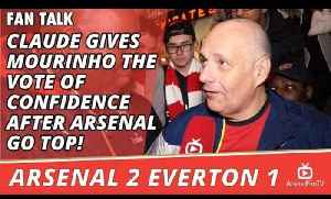 Claude Gives Mourinho The Vote of Confidence after Arsenal Go Top! | Arsenal 2 Everton 1 [Video]