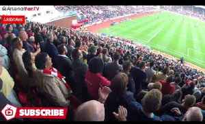 New Lacazette Chant! (Arsenal Fans Sing Lacazette's Name Away At Stoke) [Video]