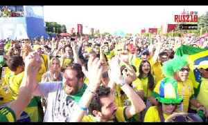 Brazil 2-0 Mexico | Brazil Fans Start The Party At The Moscow Fan Fest After Win! | World Cup 2018 [Video]