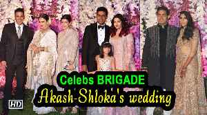 Celebs BRIGADE at Akash -Shloka's WEDDING Party [Video]