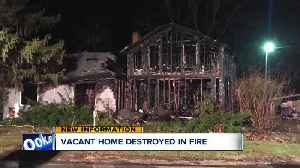 Vacant home destroyed by fire in Chatham Township [Video]