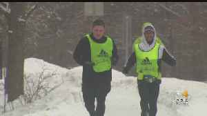 Boston Marathon Runners Continue Training Despite Bad Weather [Video]