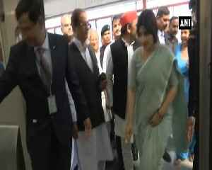 Akhilesh Yadav takes metro ride in Lucknow with family [Video]