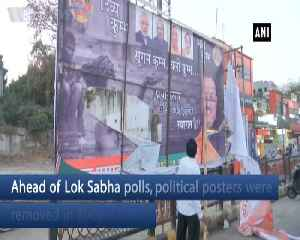 Political posters removed in Bhopal ahead of Lok Sabha polls [Video]