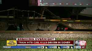 Driver killed after train hits car stuck on tracks in Hillsborough County [Video]