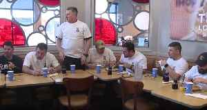 Cleveland fire beats cleveland police in pancake eating contest [Video]