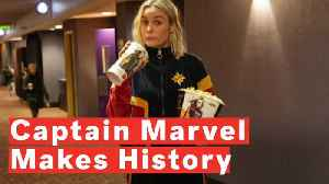 News video: Marvel's First Female Led Superhero Movie Breaks Box Office Records