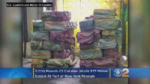 Approximately 3,200 Pounds Of Cocaine Found In Newark Shipping Container [Video]