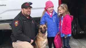 More Than 35 K-9 Units Visit Terminally Ill Girl Who Loves Dogs [Video]