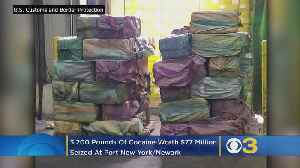 Customs Agents Seize 3,200 Pounds Of Cocaine Worth $77 Million At Port New York/Newark [Video]