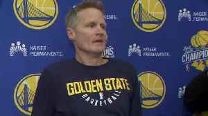 Raw Video: Steve Kerr Press Conference [Video]