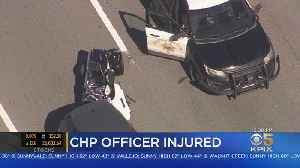 CHP Motorcyle Officer Hurt In Crash On Highway 101 In San Mateo [Video]