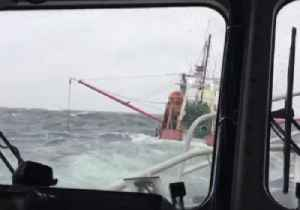 Coast Guard Rescues Two People From Sinking Fishing Vessel Off New York [Video]