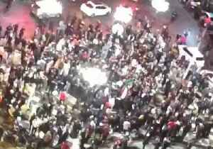 Crowds Gather in Algiers to Celebrate President's Decision Not to Run for Fifth Term [Video]