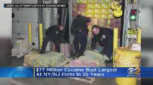 Cocaine Bust At New York, New Jersey Ports [Video]
