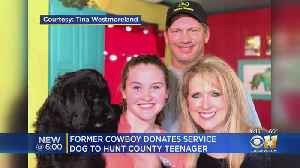Teen Gets Service Dog In Training Thanks To Former Dallas Cowboy And Wife [Video]
