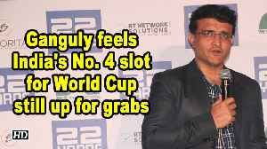 Ganguly feels India's No. 4 slot for World Cup still up for grabs [Video]