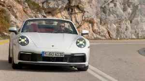 Porsche 911 Carrera S Cabriolet in Carrara White Metallic Driving Video [Video]