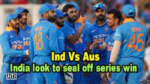 News video: India look to seal off World Cup preparation with series win against Australia