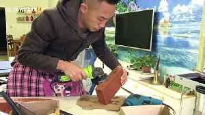 This man in China crafts DIY flutes from bricks, a plastic pipe and a bicycle pump [Video]