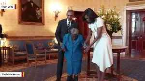 Michelle Obama Sends Happy Birthday Wishes To 110-Year-Old Woman She Danced With Four Years Ago [Video]