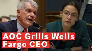 Watch: Ocasio-Cortez Grills Wells Fargo CEO On Company's Association With ICE Partnerships [Video]