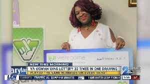 VA woman wins lottery 30 times in one drawing [Video]