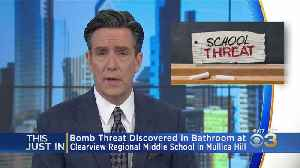Bomb Threat Discovered In Bathroom At Clearview Regional Middle School In Mullica HIll [Video]