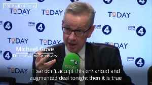 Gove compares Theresa May to Manchester United ahead of Commons vote [Video]