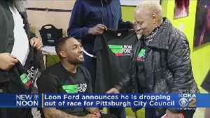 Leon Ford Announces He's Dropping Out Of City Council Race [Video]