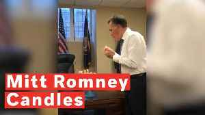 Watch Mitt Romney's Unusual Technique To Blow Out Birthday Candles [Video]