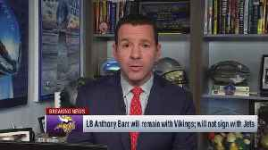 NFL Network Insider Ian Rapoport: New York Jets using money intended for linebacker Anthony Barr for 'final offer' to free agent [Video]