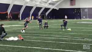 Clayton Thorson on his Northwestern Pro Day performance: 'Happy about it' [Video]