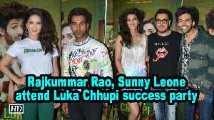 Rajkummar Rao, Sunny Leone attend Luka Chhupi success party [Video]