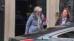 Theresa May and Philip Hammond depart Downing Street [Video]