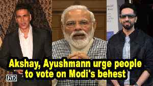 Akshay, Ayushmann urge people to vote on Modi's behest [Video]